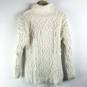 Vtg Reed Hunter M Cable Knit Sweater Fisherman